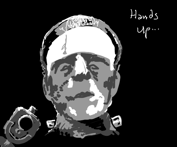 Frankenstain say put Your hands up