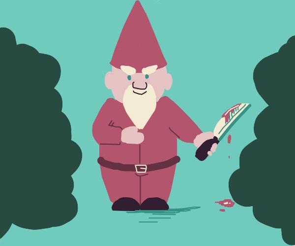 evil garden gnome!