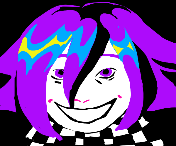 Kokichi ouma on a black background