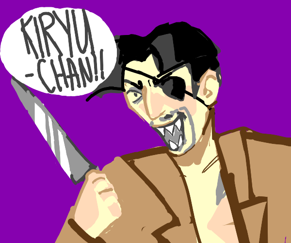 "Pirate with knife screams ""KIRYU-CHAN!"""