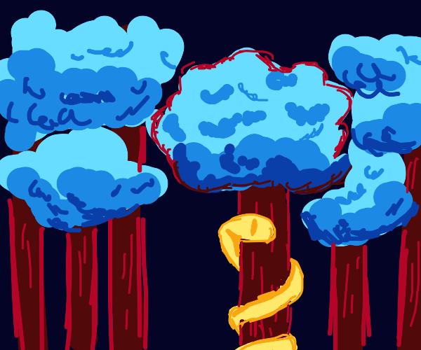 snek on tree