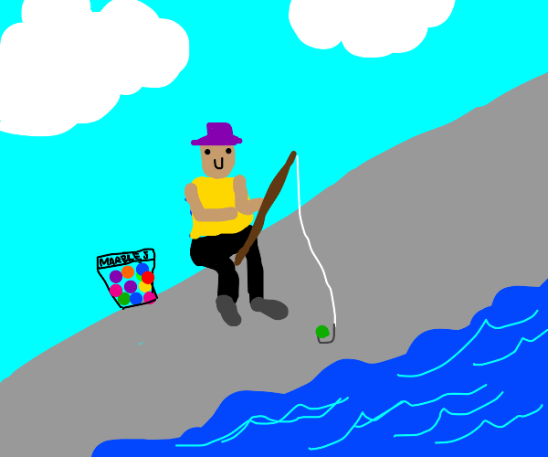 Fishing with Marbles
