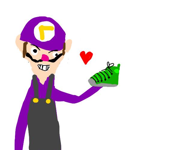 Waluigi likes shoes