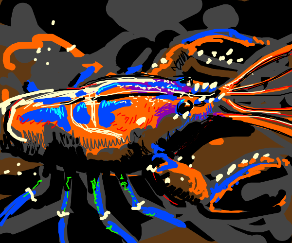 Lobster in the ocean