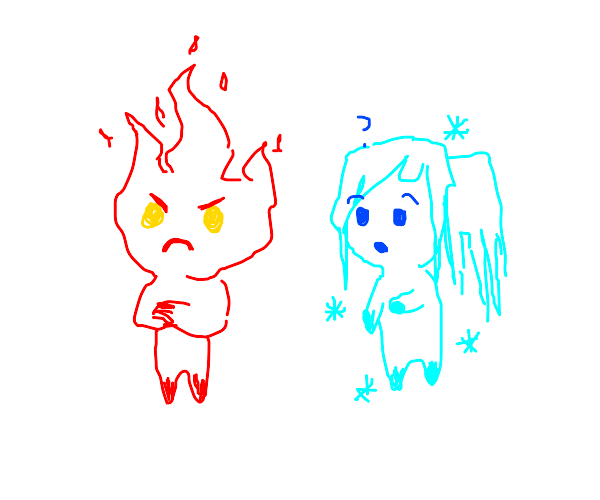 Fire boy is angry at ice girl
