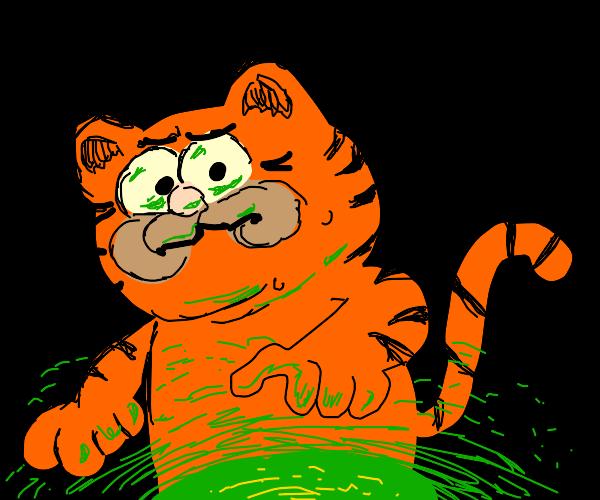 Garfield encounters radiation