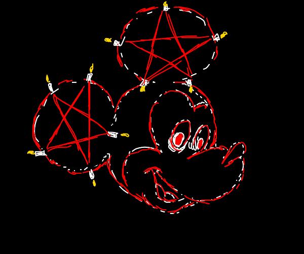 satanic mickey mouse