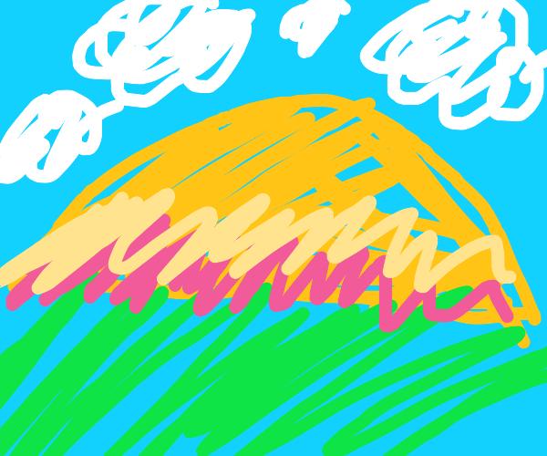 Classic neon sunset