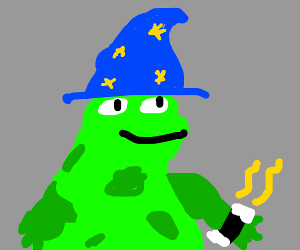 Classic good old wizard frog
