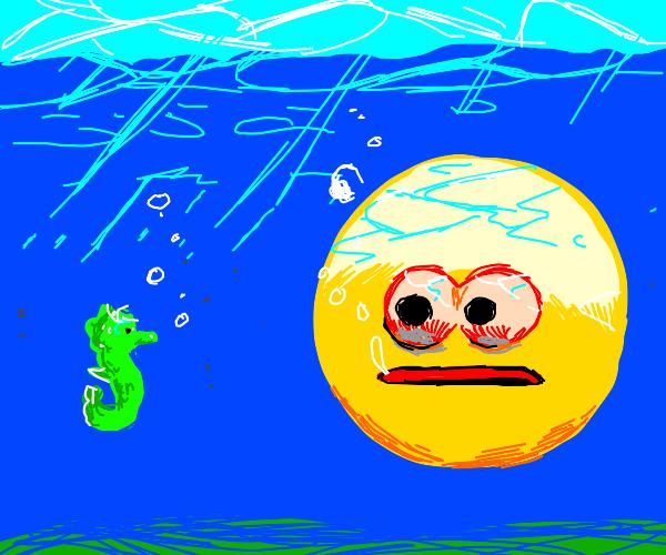 Vibecheck meets the seahorse.. no. Underwater