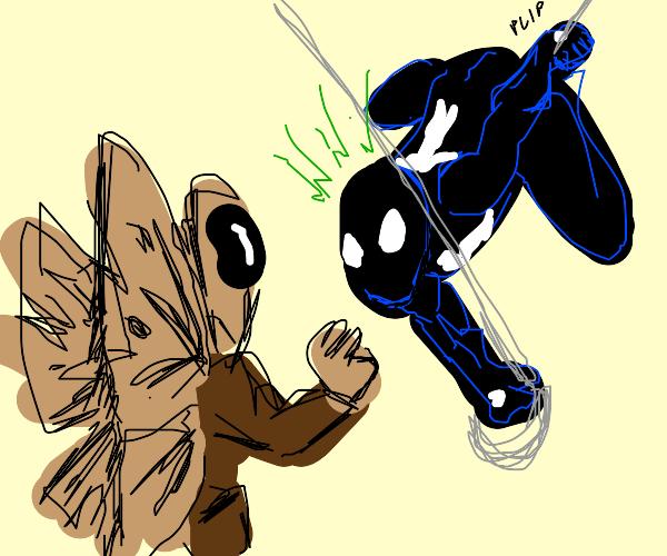 Mothman vs Spider-Man