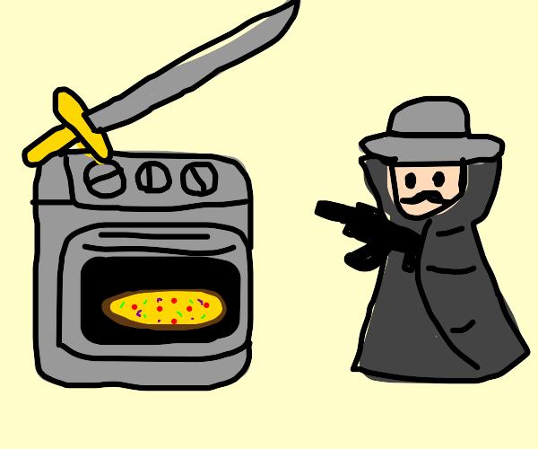 Oven vs Gunman