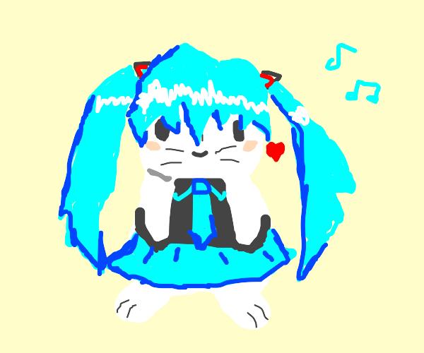 Miku rabbit UwU
