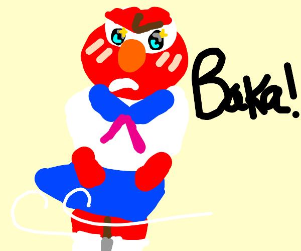 elmo came; calls you baka