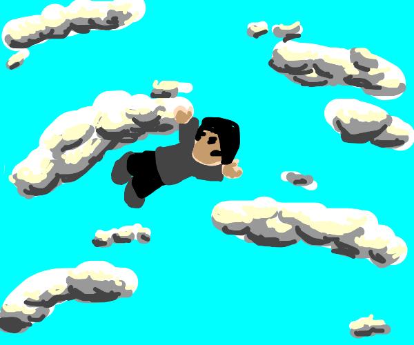 Man falling in the sky