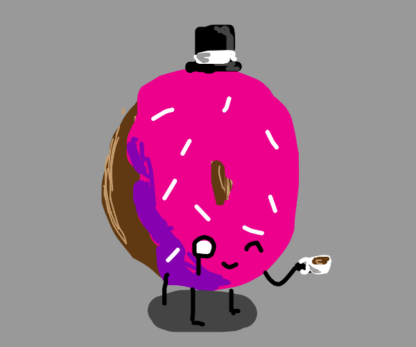 Gentleman who is a donut