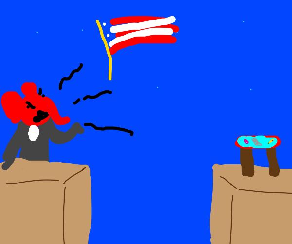 table running for president in 2024 in debate