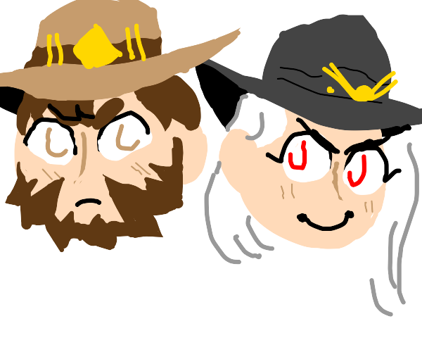 mccree and ashe (overwatch)