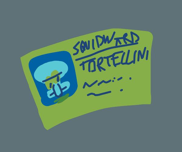 Squidward's ID card