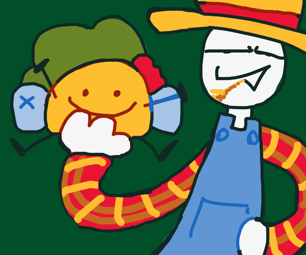 Taco from BFB being held by a farmer sheep