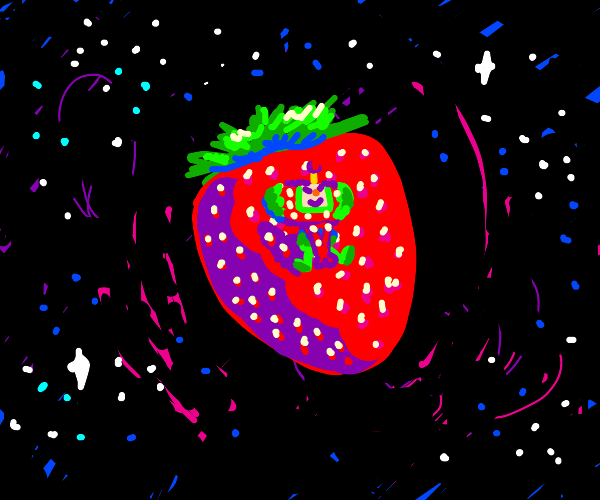 Strawberry asteroid