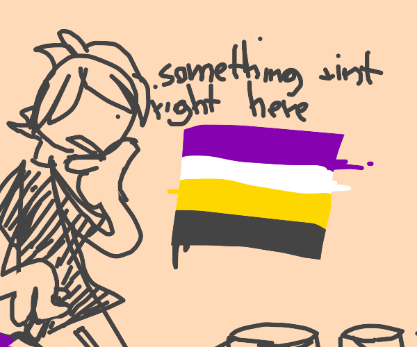 a mismatched non binary flag?