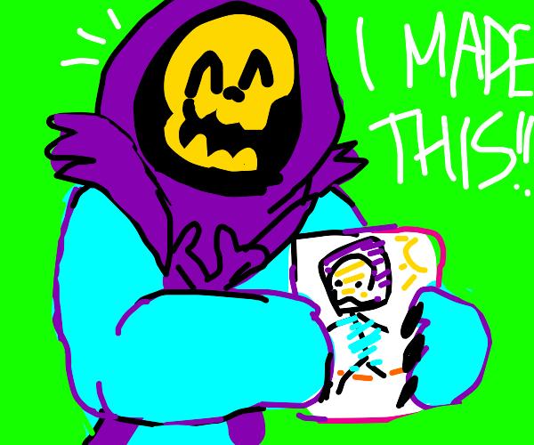 Skeletor becomes an artist