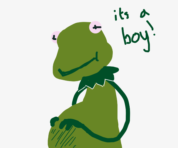 Kermit is pregnant