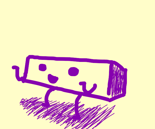 A Happy (Horizontal) Purple Rectangle