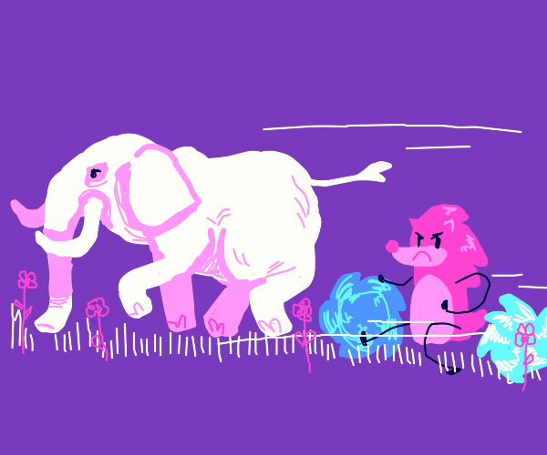 3 Sonics chasing an elephant