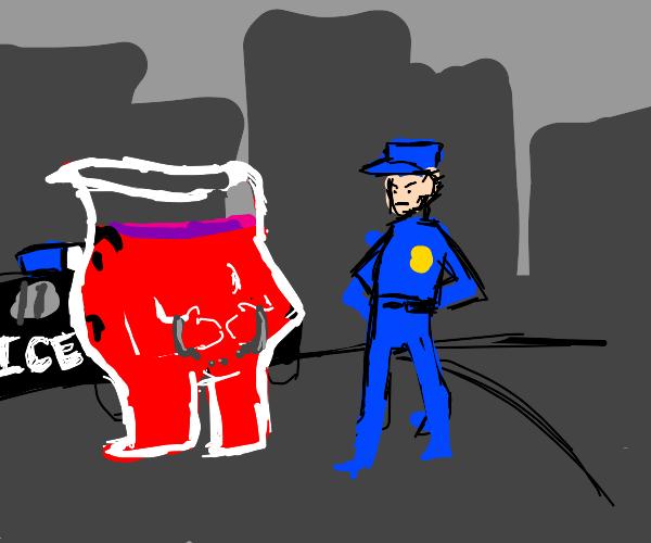 Koolaid Man being arrested