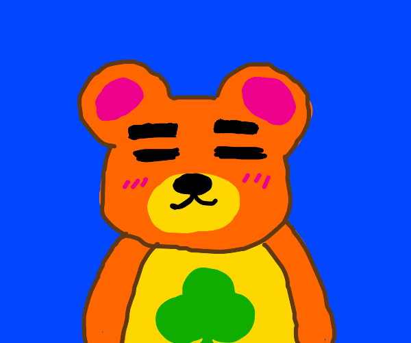 Teddy from animal crossing