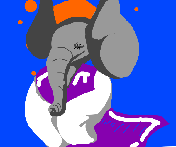 Elephant in toriel clothes