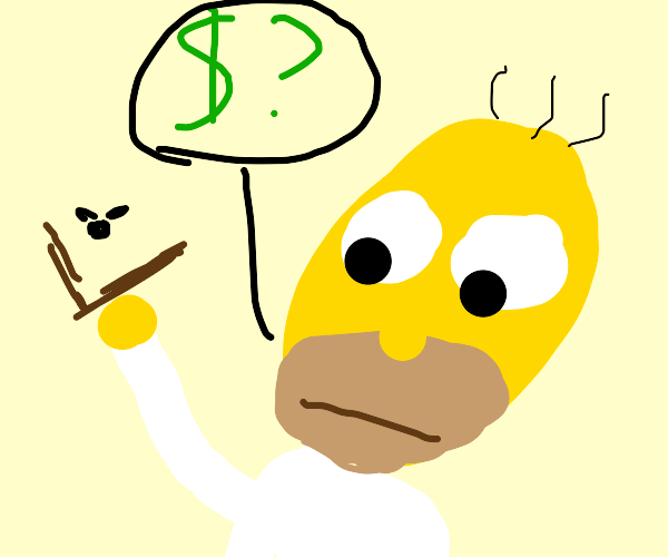 homer simpson is broke