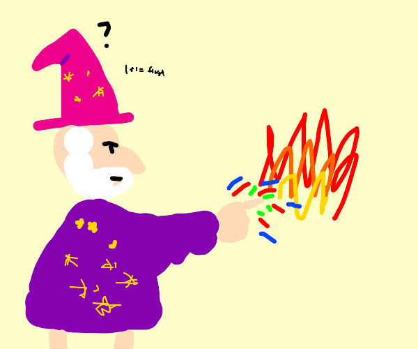 Wizard making some magic calculations
