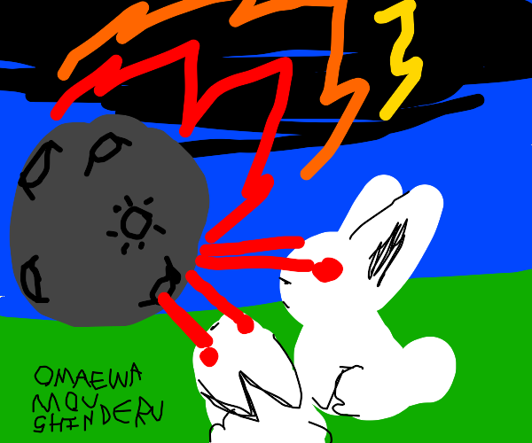 Max and Ruby destroying an evil meteor