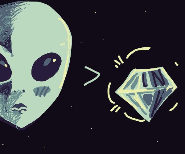 An alien is prettier than a diamond