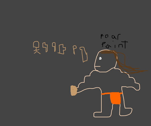 Caveman finger painting