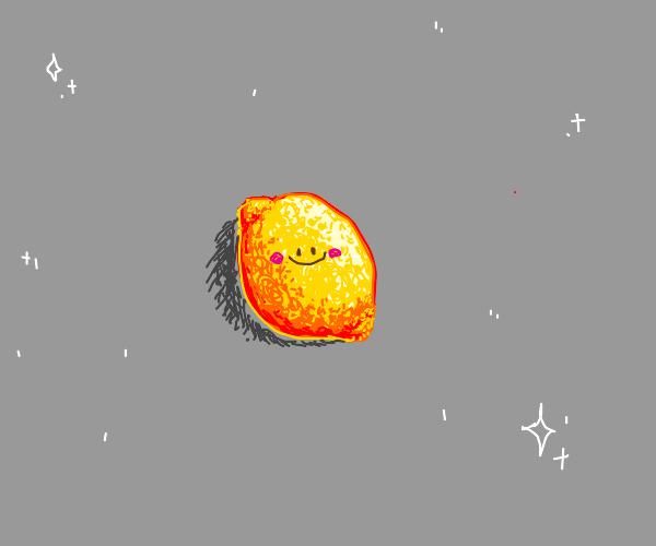 Lemon in a light gray space