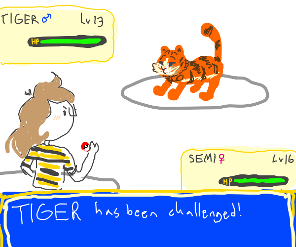 you challenge a tiger