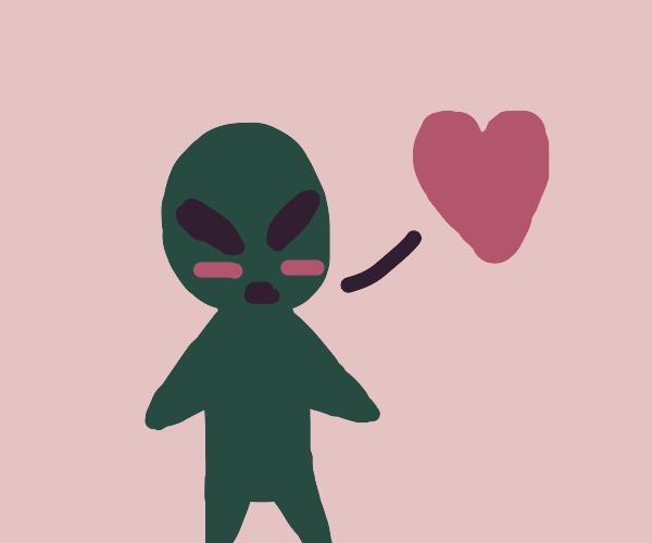 An alien love confession