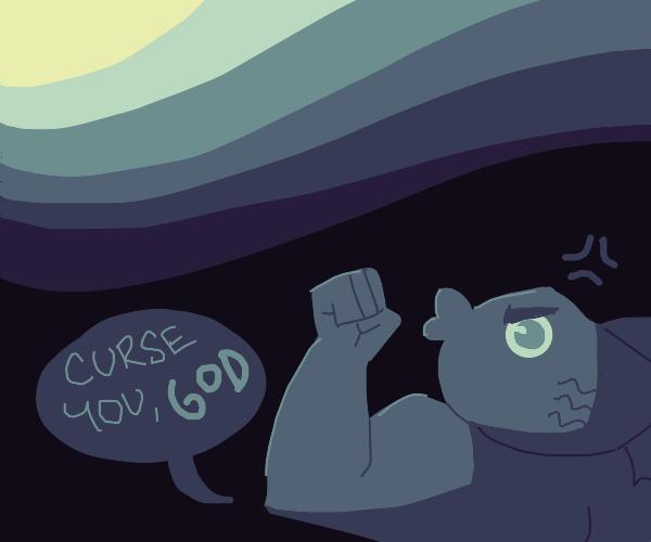 Buff fish screams at God