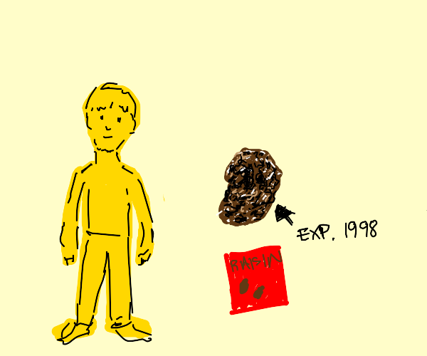yellow guy and an old raisin. That's all.