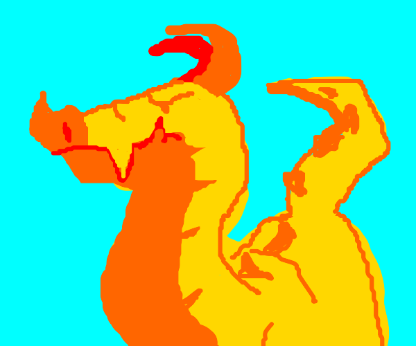 Dragon with a large orange nose