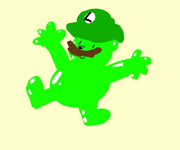 Luigi the gummy bear