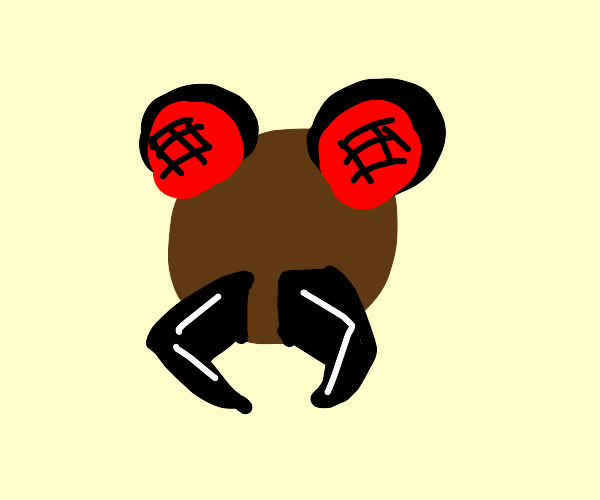 brown bug with fangs