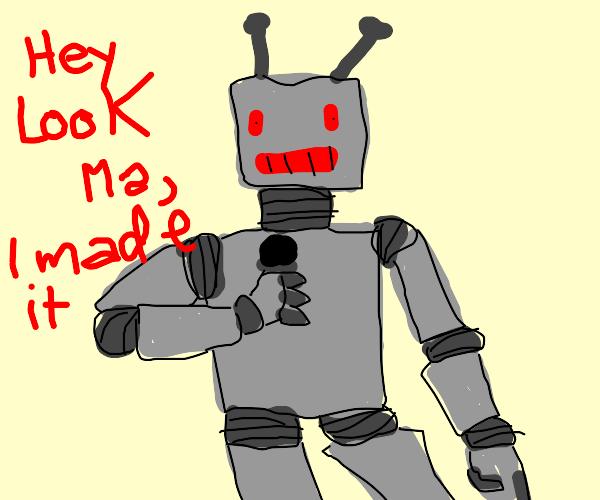 Robot karaoke.