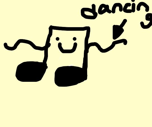 dancing music note