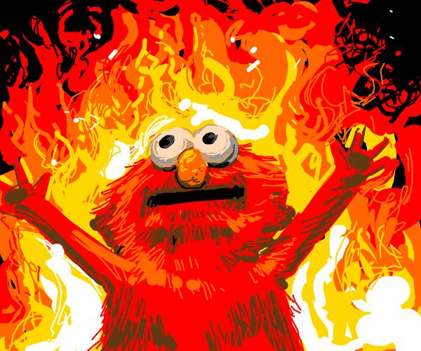 Elmo In Fire Meme