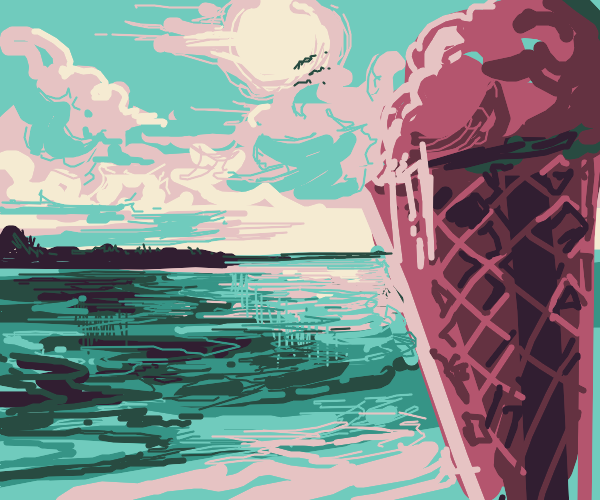 confused about ice cream in the ocean